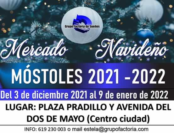 Mercado de navidad en Mostoles, Madrid 2021