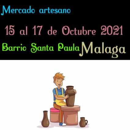 Mercado artesano en Santa Paula, Malaga - Octubre 2021