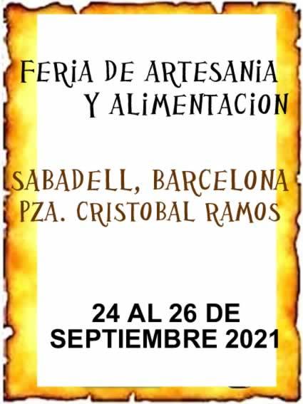 Feria de artesania y alimentacion en Sabadell ( Pza Cristobal Ramos )