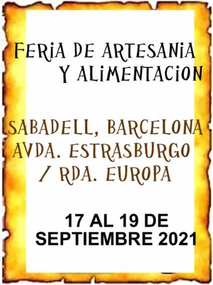 Feria de artesania y alimentacion en Sabadell