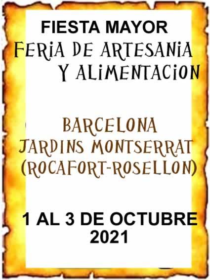 Feria de Artesania y alimentacion en Barcelona (Jardins Montserrat)