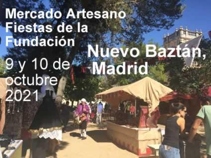 Mercado Artesano Fiestas de la Fundación en Nuevo Baztan, Madrid
