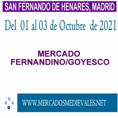 MERCADO FERNANDINO/GOYESCO en San fernando de Henares