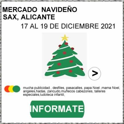 [17 al 19 de Diciembre 2021] Mercado navideño en Sax , Alicante