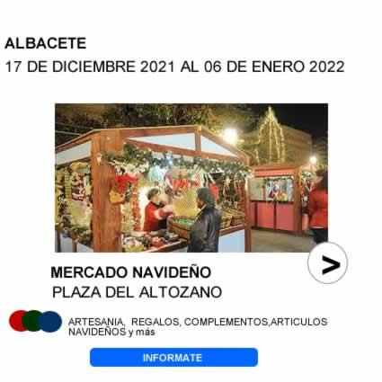 Mercado navideño en Albacete
