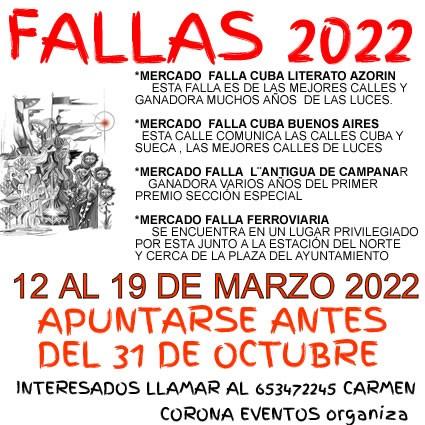 Fallas 2022 en Valencia