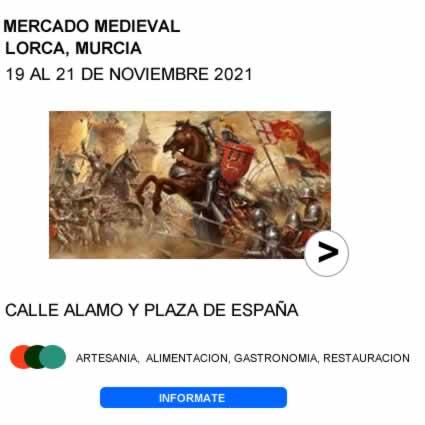Mercado medieval en Lorca, Murcia